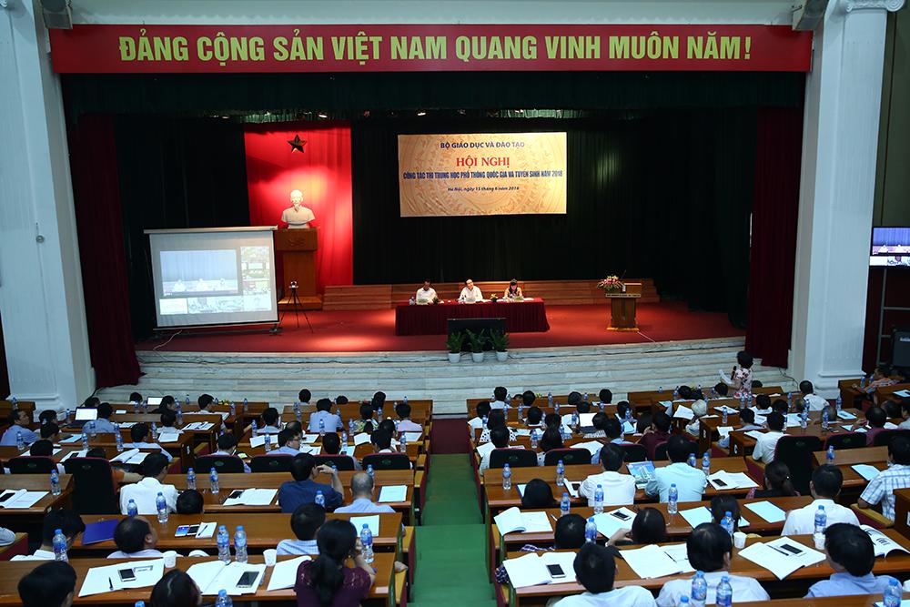 Hội nghị công tác thi THPT quốc gia và tuyển sinh năm 2018